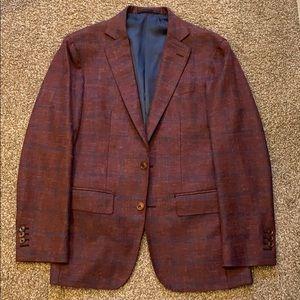 Burgundy Wool-Silk-Linen Sportscoat